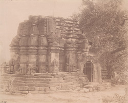 Rear view of the Mahadeva Temple at Trinetra, near Than